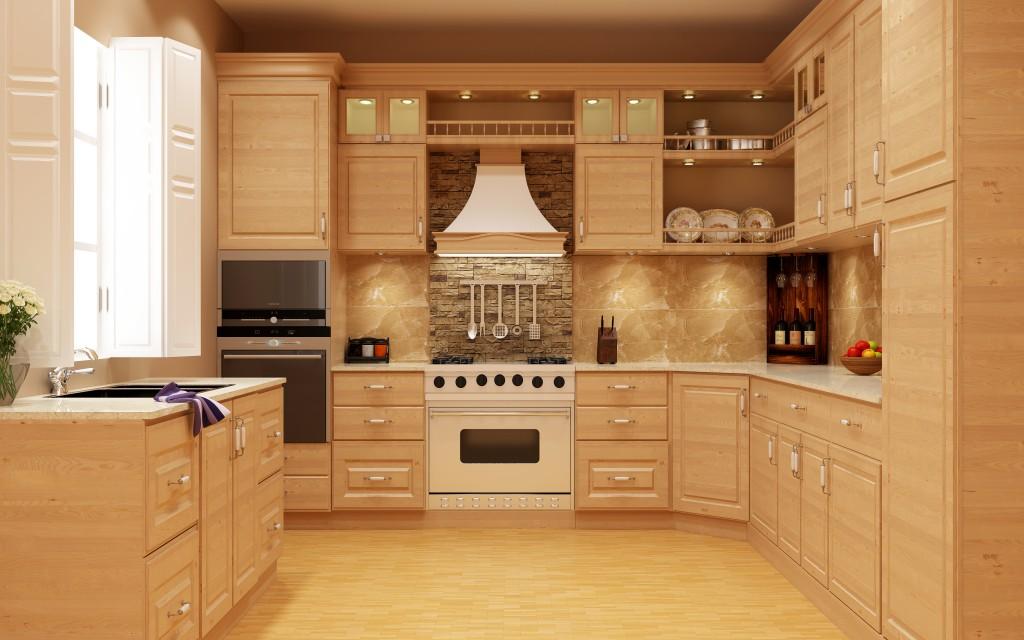 Solid Wood Modular Kitchen